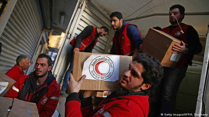 Syrien Hilfslieferungen Rotes Kreuz