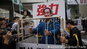 China Hongkong Protest verschwundene Buchhändler (picture-alliance/dpa/J. Favre)