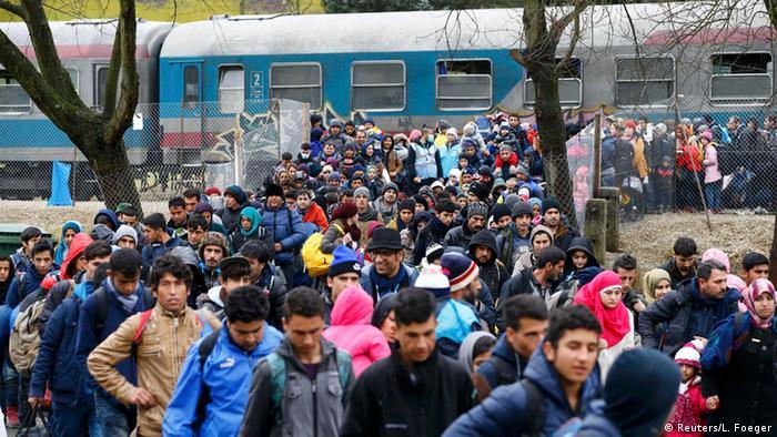 Refugees at Slovenian border
