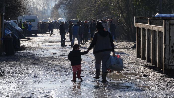 Flüchtlingslager Grande Synthe in Dunkerque (Foto: Bernd Riegert/DW)