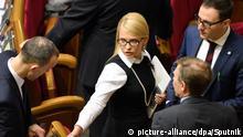 16.02.2016+++ 2792391 02/16/2016 Batkivshchyna (Fatherland) party leader Yulia Tymoshenko at a Verkhovna Rada meeting. Stringer/Sputnik +++ (C) picture-alliance/dpa/Sputnik