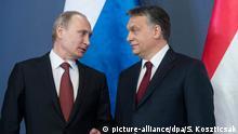 Ungarn Viktor Orban empfängt Wladimir Putin
