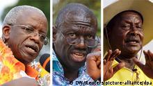 Uganda Präsidentschaftswahlen Kandidaten Kombo Amama Mbabazi Kizza Besigye Yoweri Museveni +++ (C) DW/Reuters/picture-alliance/dpa