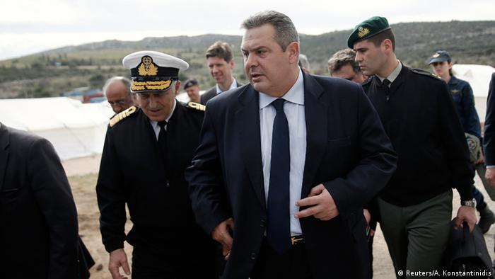 Griechenland Verteidigungsminister Panos Kammenos in Schisto