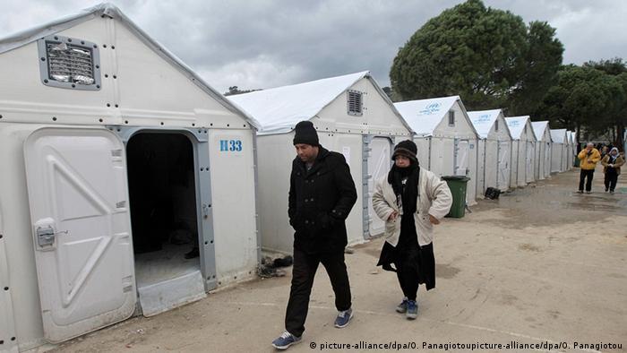 Griechenland Lesbos Flüchtlinge im Registrierungszentrum