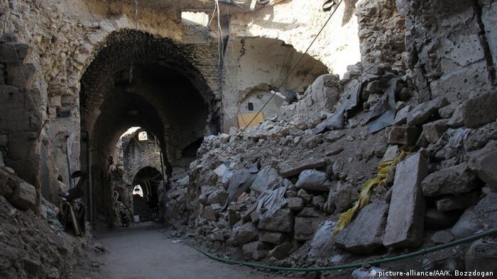 Syrien Aleppo zerstörter Großer Basar