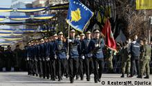 17.02.2016 *** Members of Kosovo Security Forces (KSF) march during a celebration marking the eighth anniversary of Kosovo's declaration of independence from Serbia, in Pristina February 17, 2016. REUTERS/Marko Djurica © Reuters/M. Djurica
