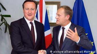David Cameron Donald Tusk