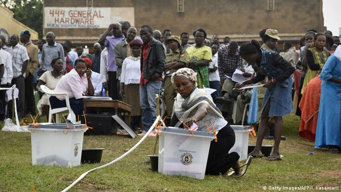 Uganda elections and ballot boxes