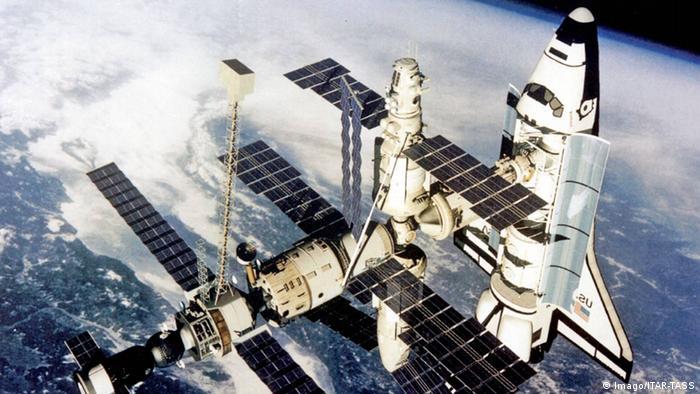 Raumstation Mir Raumschiff Atlantis