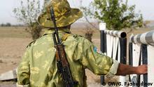 Grenze zwischen Tadjikistan und Kyrgyzstan, ein Soldat aus der tadjikischen Grenzschutztruppe Foto: DW Korrespondent Galym Fashutdinov