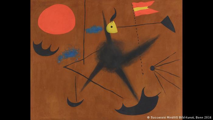 Schirn Museum Joan Miro Ausstellung Die spanische Flagge