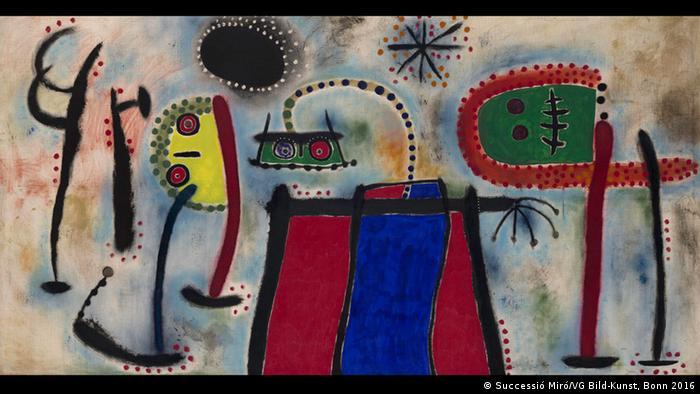 Abstraktes Gemälde von Joan Miró