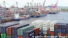 Deutschland Hamburg Containerhafen