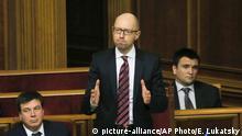Ukraine Kiew Rada Premierminister Arsenij Jazenjuk
