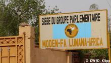 Der Sitz der Fraktion der Oppositionspartei Moden Fa Lumana, dessen Kandidat für die Präsidentschaftswahl, Hama Amadou, im Gefängnis sitzt. Fotograf: Dirke Köpp, Januar 2016