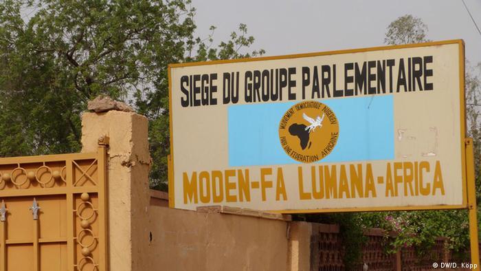 Niger Sitz der Fraktion der Oppositionspartei Moden Fa Lumana