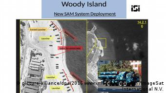Satellitenbild Woody Island (picture-alliance/dpa/2016 www.imagesatintl.com /ImageSat International N.V.)