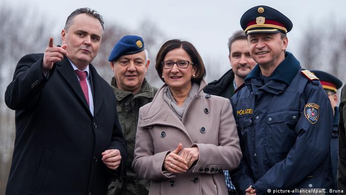 Johanna Mikl-Leitner Innenministerin und Verteidigungsminister Hans Peter Doskozil