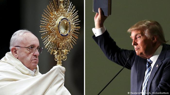 Dois homens, dois mundos: Trump e o papa