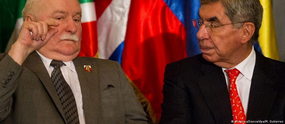 Walesa e Arias discursaram em Parlamento da Venezuela