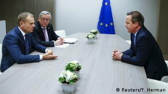 Brüssel EU Gipfel - Tusk & Juncker & Cameron