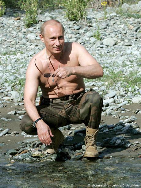 Präsident Putin beim Fischen (picture-alliance/dpa/D. Astakhov)
