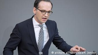 Deutschland Heiko Maas im Bundestag