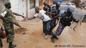 Uganda Wahlen Proteste der Opposition