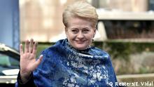 Litauens Präsidentin Dalia Grybauskaite beim EU-Gipfel in Brüssel