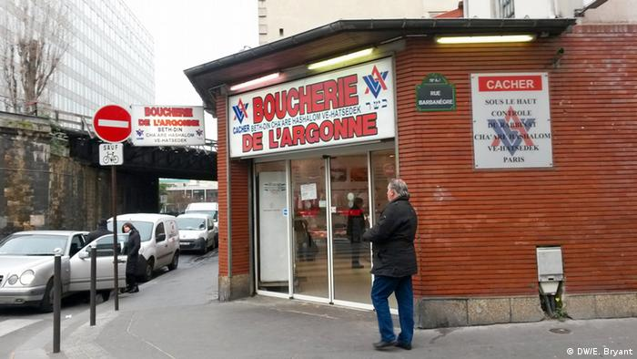 Kosher butcher shop Boucherie de L'Argonne in Paris' 19th district