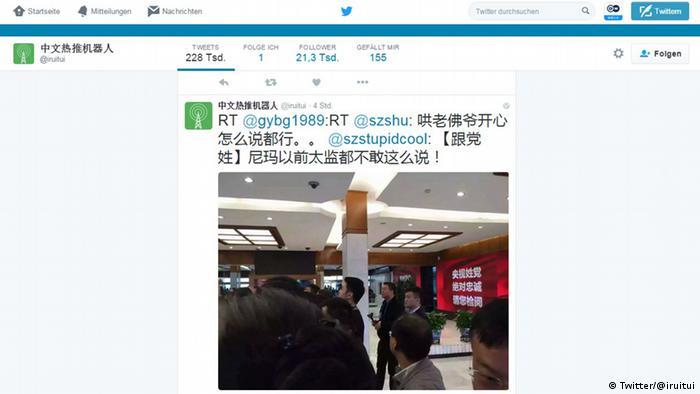 Screenshot Twitter Account @iruitui