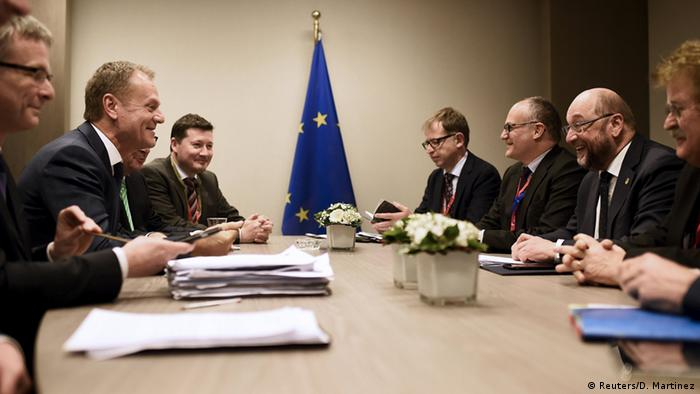 Brüssel EU Gipfel - Donald Tusk & Martin Schulz