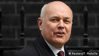 London Minister für Arbeit und Pensionen Iain Duncan Smith Downing Street in London Foto: Reuters/T. Melville
