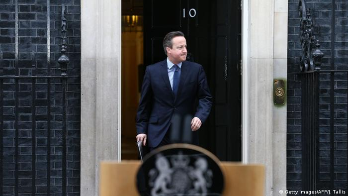 London Premierminister David Cameron zu den EU-Verhandlungen Downing Street in London