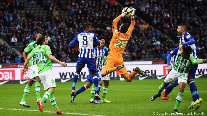 Hertha drew with Wolfsburg last time out.