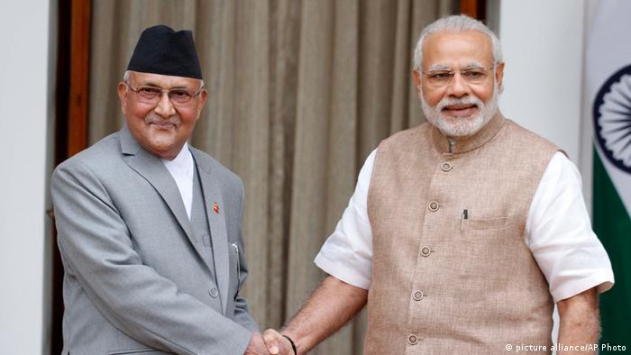 Indien Treffen Modi und Oli