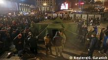 Ukraine Proteste gegen die Regierung am Maidan-Gedenktag