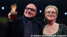 Deutschland Berlinale 2016 Preisverleihung Bester Film Gianfranco Rosi und Meryl Streep