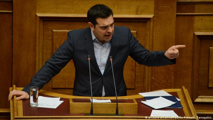 Alexis Tsipras im Athener Parlament (Foto: picture-alliance)