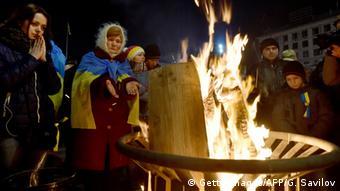 Ukraine Jahrestag Gewalt auf dem Maidan in Kiew