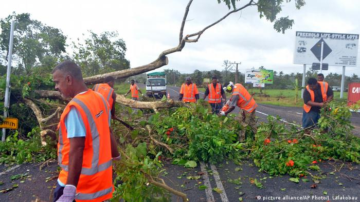 Fidschi-Inseln Zyklon Winston Aufräumarbeiten