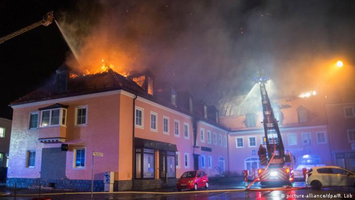 Пожар в общежитии для беженцев в Баутцене, 21 февраля