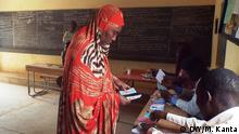 Niger Wahl Wählerin in Niamey