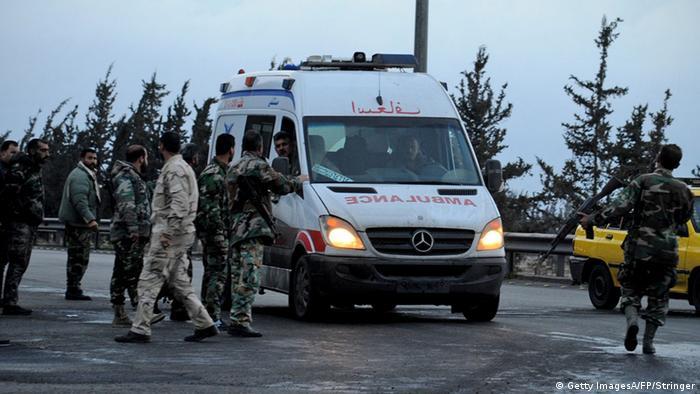 Syrien Damaskus Bombenanschlag Krankenwagen