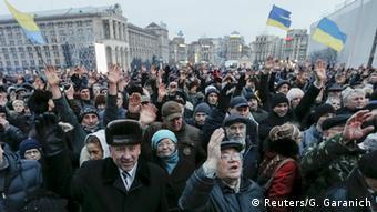 Ukraine Kiew Maidan Anti Regierung Demonstration