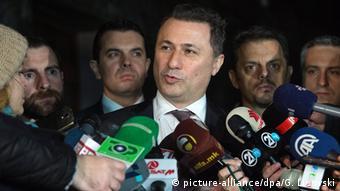 Mazedonien Premierminister Nikola Gruevski
