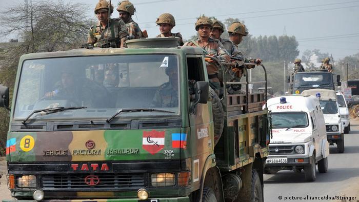 Indien Haryana Jat Proteste Kastensystem Soldaten