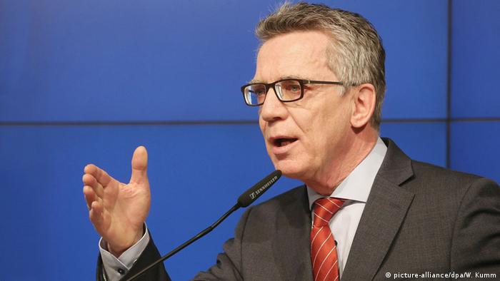 Deutschland Innenminister Thomas de Maizière