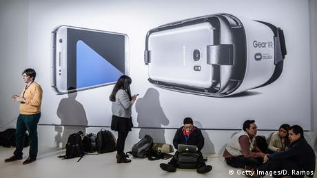 Barcelona Mobile World Congress 2016 Samsung S 7Gear VR (Getty Images/D. Ramos)